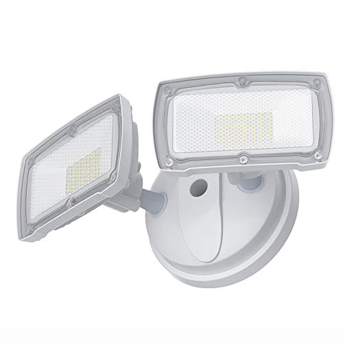 Dusk to Dawn LED Security Light Outdoor, GLORIOUS-LITE 28W Flood Lights Outdoor with Photocell, 3000LM, IP65 Waterproof, ETL Listed, 5500K, Adjustable 2 Head LED Exterior Light for Backyard, Garden