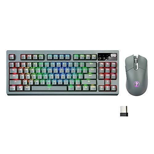 ZJFKSDYX Wireless Gaming Mechanical Keyb...