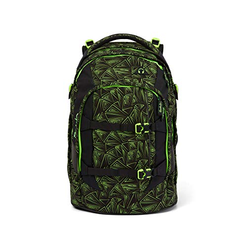 satch Pack Green Bermuda, ergonomischer Schulrucksack, 30 Liter, Organisationstalent, Schwarz