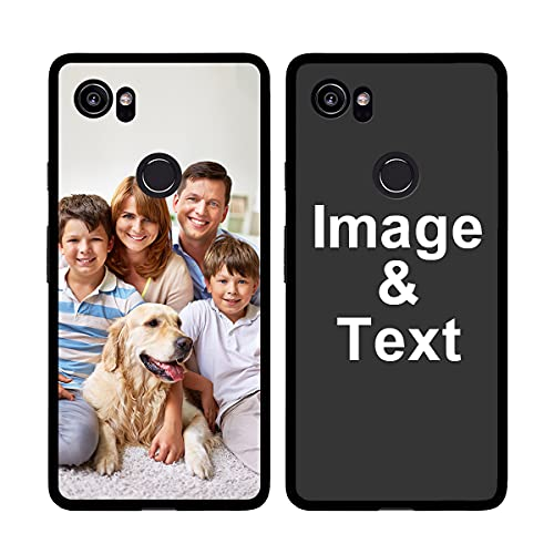 Customized Photo Case for Google Pixel 2XL, Personalized Picture Case Shockproof Silicone Case Soft Candy Custom Phone Case Xmas Birthday Thanksgiving Gift STYLETiFY Protective Phone Cover Black