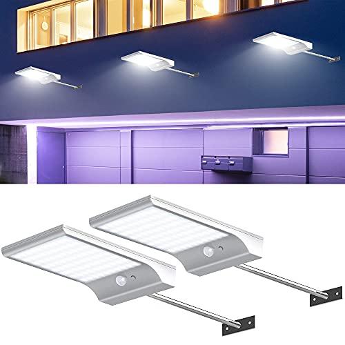 InnoGear Solar Lights Outdoor, 4 Modes Solar Garden Lights Motion Sensor Outdoor Light Wall Lights Security for Barn Porch Garage, Pack of 2