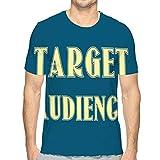 hyjhytj Men's Lightweight Crewneck T-Shirt Target Audience Business Concept Design Target Audience Business Concept Design