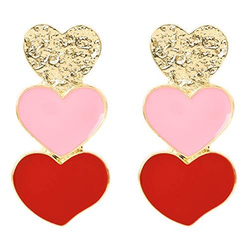 Rave Envy Earrings - Heart Trifecta