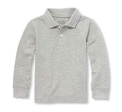 The Childrens Place Boys Long Sleeve Uniform Polo