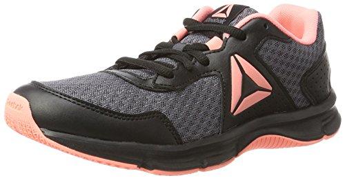 Reebok Express Runner, Zapatillas de Running para Mujer, Negro (Black/Ash Grey/Sour Melon/White), 38.5 EU
