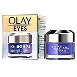 OLAY Eyes Retinol24 Nacht-Augencreme, 15ml, mit Retinol und Vitamin B3, für Glatte und Strahlende Haut, Parfümfreie Anti Aging Crème Frauen, Gesichtspflege