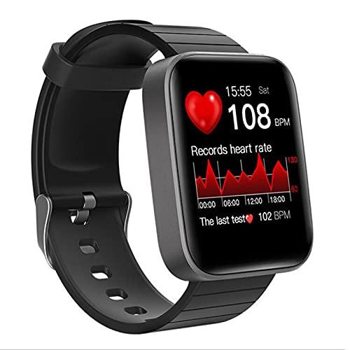 Reloj inteligente 2021 para teléfonos Android / iOS, monitor de actividad física con pantalla táctil completa de 1,54 pulgadas para hombres y mujeres, IP67 resistente al agua, recordatorio de inform