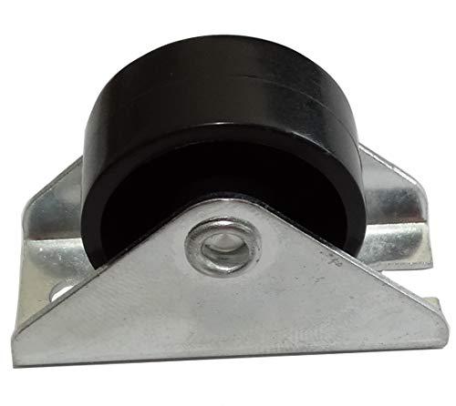 AERZETIX: Ruedas ruleta para muebles base fija Ø25mm W12mm H28mm 25kg placa de montaje 18x40mm C42672 (20 piezas)