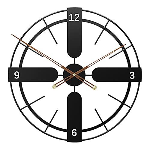Reloj De Pared De Hierro Vintage, Reloj De Pared Grande De Pared En Silencio Relojes Redondos Sin Tictac para Sala De Estar Y Decoración De Jardín