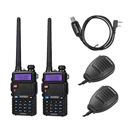 BAOFENG 2 Pack 8W Radio+1 Cable+2 speaker 2 Pack Tri-Power 8/4/1W Two-Way Radio Transceiver,Black. Buy it now for 81.30