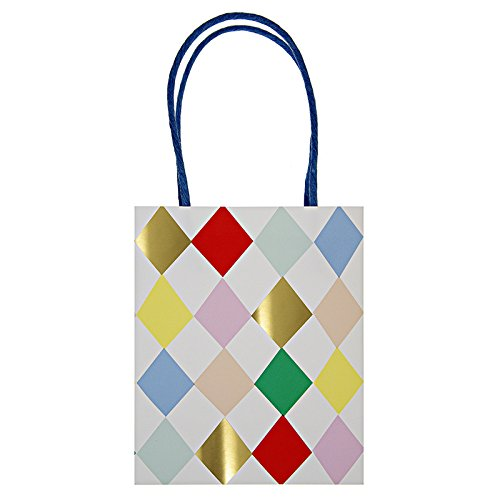 Toot Sweet @ Occasions Direct Pack Of 8 Toot Sweet Party Bags - Harlequin