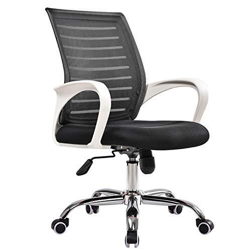 Silla de oficina ergonómica, ajustable y cómoda, silla de mesa de ordenador giratoria de 360°, silla de oficina para el hogar, color negro