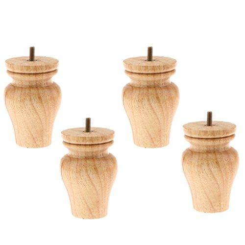 Backbayia 4 Stück Möbelfüße Holz Schrankfuß Tischfuß Sockelfuß für Möbelfüße Füße Sofa Couch Stuhl Bett Schrank Wohnzimmer Sofa Dekor'