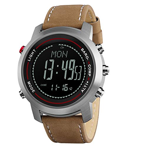Men Digital Sports Watches with Compass Pedometer Altimeter Barometer Military...
