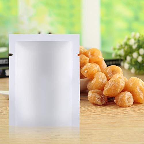N / E 100 unidades de bolsas de plástico Mylar de aluminio para almacenamiento de alimentos al vacío, bolsas de almacenamiento de alimentos, congelables y reutilizables de alta reflexión