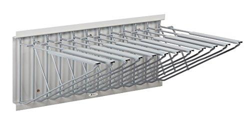 Adir Corp. Pivot Wall Rack with Hangers for Blueprints - Plans, Sand Beige