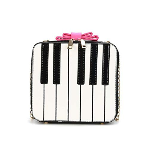 sakose Bolso Bandolera pequeño para Mujer, Bolso Bandolera con Forma de Piano Bonito para Mujer, Bolso de Mano