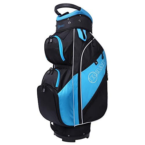 Ram Golf Lightweight Ladies Cart Bag with 14 Way Dividers (Black/Teal)