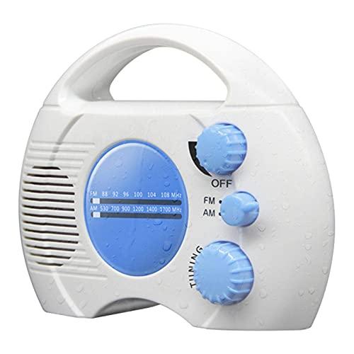 YCHX Radio De Ducha - SY - 910 Radio Portátil Impermeable Clase 5 - Mini Am FM Radio De Ducha con Altavoz Incorporado Audio Baño Doméstico Impermeable (Azul)