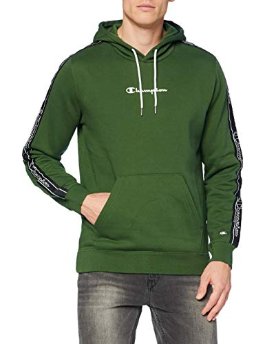 Champion Men's Seasonal Tape Hooded Sweatshirt Sudadera con Capucha, Verde (GS561), Small para Hombre