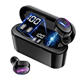Wireless Earbuds Bluetooth, GPEESTRAC True Bluetooth 5.0 in Ear Headphone with Charging Case, Hi-Fi Stereo Sound IPX5 Waterproof, Built-in Mic Sport Earphones for iPhone Android Cellphones