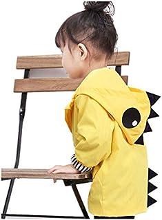 Birdfly Unisex Kids Animal Raincoat Cute Cartoon Jacket Hooded Zip Up Coat Outwear Baby Fall Winter Clothes School Oufits