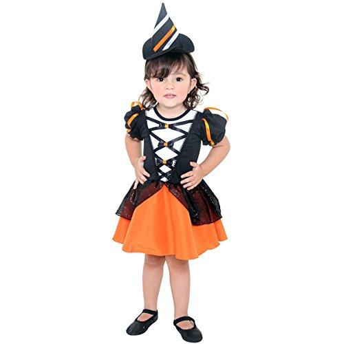 Fantasia Bruxa Encanto Bebe Sulamericana Fantasias M 2 Anos