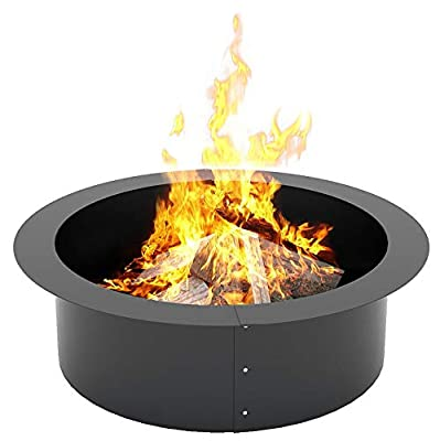 KLEMP Fire Pit – Cast Iron Fire Pit Ring for Garden – 90-cm Large Fire Bowl – Heavy-Duty Garden Fire Pits – DIY 3-Part In-Ground or Above Ground Fire Pit – Camping Bowl for Wood and Charcoal from KLEMP