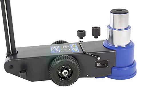 Pro-Lift-Werkzeuge Rangierwagenheber pneumatisch Teleskop 80t / 50t Druckluft-Stahl-Wagenheber 2-stufig Pneumatikantrieb Werkstatt 80t/50t professionell Druckluftheber LKW PKW