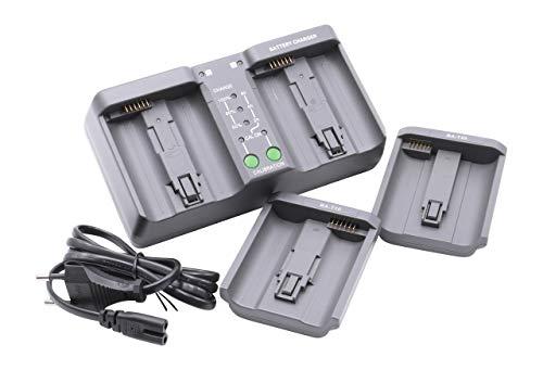 vhbw dual Schnellladegerät Ladegerät Ladeschale passend für Kamera Camcorder DSLR Akkus Nikon EN-EL18, EN-EL4, EN-EL4a, EN-EL4e