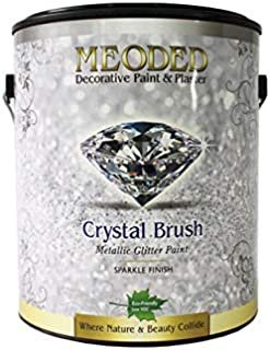 Meoded Paint and Plaster | Crystal Brush Glitter Paint | CB100 White Base | Glitter Paint for Walls| 1 Gallon