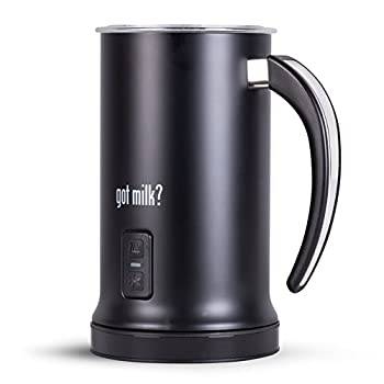 Got Milk? - Automatic Milk Frother Heater and Cappuccino Maker black 7x8.5  GMMF618B