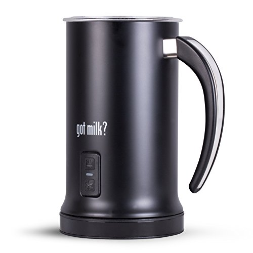 Got Milk? - Automatic Milk Frother, Heater and Cappuccino Maker, black, 7x8.5 (GMMF618B)