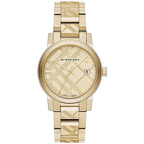 Burberry Unisex Schweizer Gold ionenplattiert Edelstahl Armband Uhr