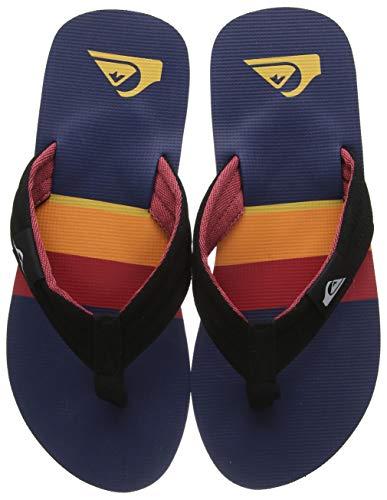 Quiksilver Herren Molokai Layback - Sandals for Men Zehentrenner, Mehrfarbig (Black/Red/Blue Xkrb), 44 EU