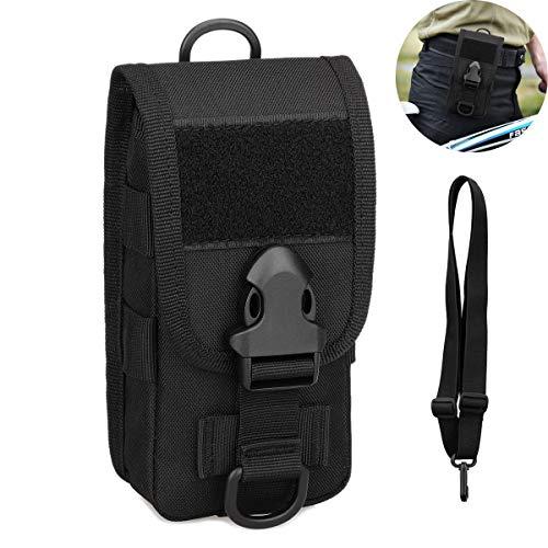 Selighting Taktisch Handytasche Wasserdicht Militär Hüfttasche Gürteltasche Molle Tasche für Airsoft Wandern Trekking Outdoor Sport (Schwarz)