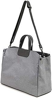 Luggage & Bags Oxford Cloth Magnetic Buckle Handbag One Shoulder Laptop Bag File Bag, Suitable for Laptop Size: 15.6 inch(Grey) (Color : Grey)