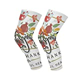 Knee Sleeve Vintage Thanksgiving Day Full Leg Brace Compression Long Sleeves Pads Socks for Meniscus Tear, Arthritis, Running, Workout, Basketball, Sports, Men and Women 1 Pair