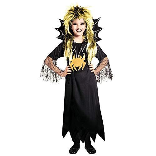 Widmann-Spidergirl Costume per Bambini, Multicolore, (128 cm / 5-7 Anni), 38306