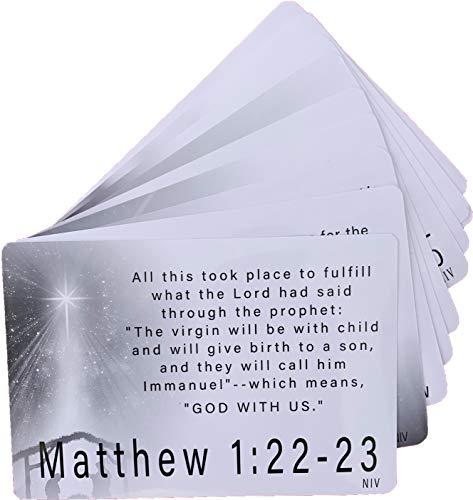Weihnachtskarten mit englischsprachiger Aufschrift, NIV, inspirierende Erinnerung, Bibelvers, 10 Stück