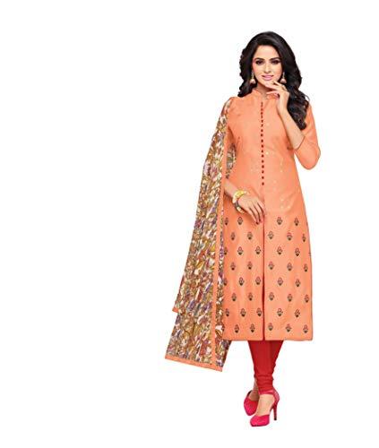 OOMPH! Women's Dress Material (rbmf_dm21_629_Orange_Free Size)