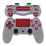 eXtremeRate LED Botones para Mando PS4 Teclas Botón D-pad Joysitcks Gatillos Home Face Símbolos Botones DTFS(DTF 2.0)LED Kit para Control de Playstation 4 PS4 Slim Pro-No Incluye Mando(Rojo Escarlata)