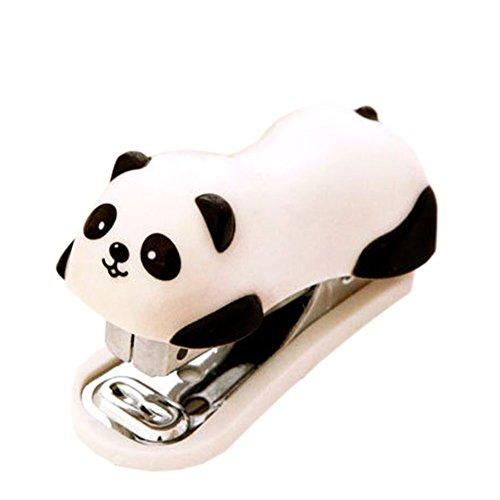Cute Panda Mini Desktop Stapler Staple for Office School Home Travel and Best Cute Gift for Friends and Children