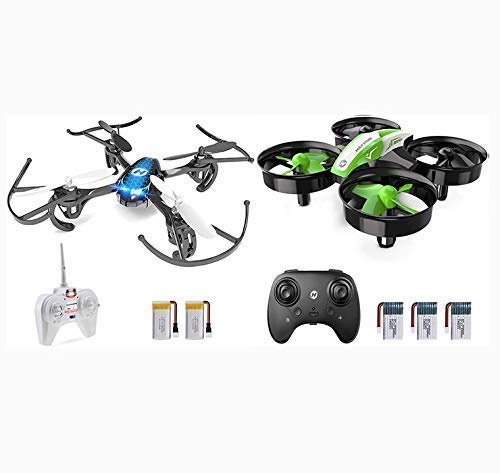 Holy Stone Mini Drone Set HS170 and HS210 Green, with Altiude Hold Headless Mode
