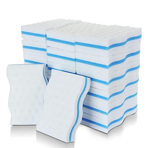 Starvast - Esponjas mágicas de melamina de limpieza muy gruesa – Goma mágica para cuarto de baño, piscina, cocina, suelo, pared (sin productos químicos) – Blanco
