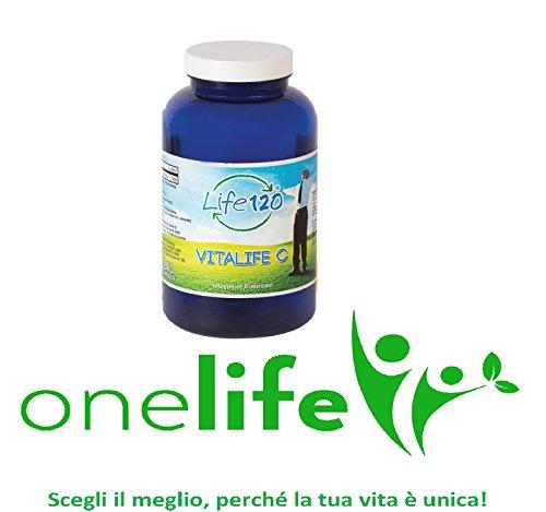 Vitalife C di Life 120 | Vitamina C 240 Compresse 1000 mg Integratore Alimentare | Distributore Ufficiale OneLife