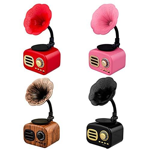 Mini Altavoz Bluetooth, Altavoz De Modelado De Gramófono Inalámbrico Inteligente Retro, Reproductor De Música, Altavoz De Escritorio Portátil Con Batería De Gran Capacidad, Para Viajes, Oficina En Cas