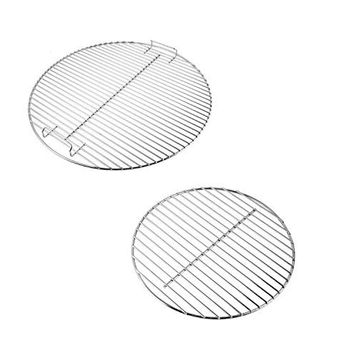 AJinTeby Cooking Grate -7432 Charcoal Grid-7440 for Weber 18.5 in Charcoal Grills, for Weber One-Touch Bar-B-Kettle Smokey Mountain Cooker Smoker Jumbo Joe Original Kettle Grills
