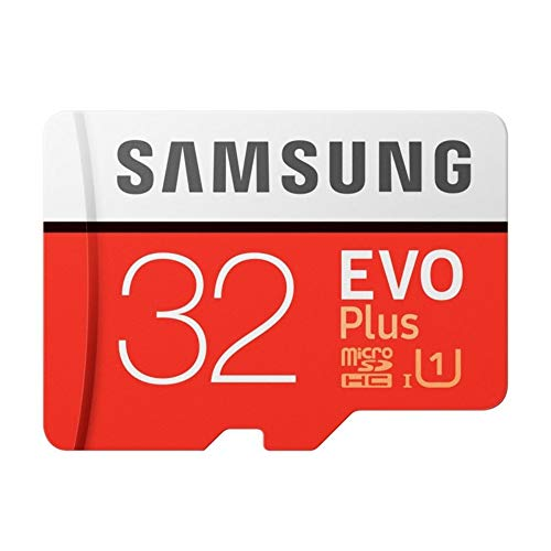 Samsung EVO PLUS 32GB SDHC UHS-1 Class 10 MicroSD Memory Card 32 GB microSD Card 95MB/s MicroSDHC 32 GB External Storage for Your Smartphone or Tablet with SD Adaptor and Case in Original Packaging
