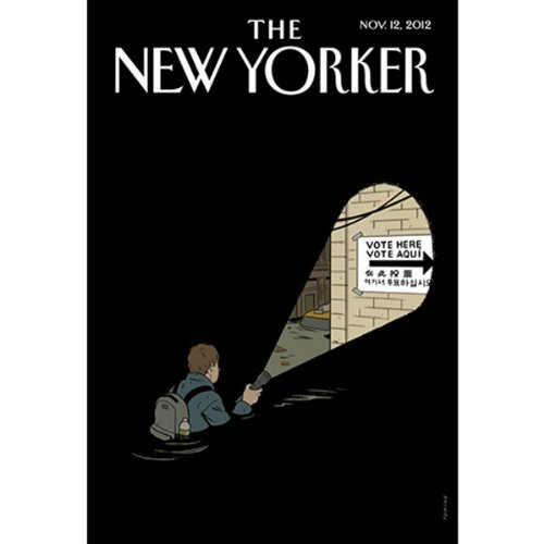The New Yorker, November 12th 2012 (Wendell Stevenson, Alex Ross, Hendrik Hertzberg) copertina